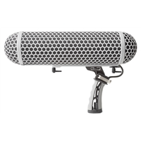 Blimp-style Microphone Windscreen and Shockmount