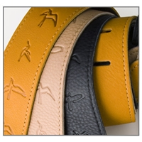 ACC-3112: PRS Guitar Strap, Birds, Brown Leather