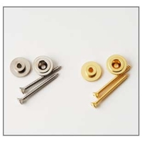 ACC-4217: Strap Button & Screw, Nickel, Pk of 2