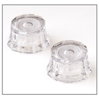 ACC-4260: Knob, Lampshade, Clear w/white, Pk of 2