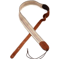 "Martin Strap 2"" Woven w/Brown Leather Ends"