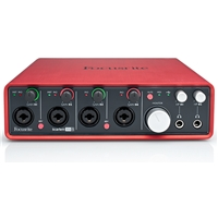 Scarlett18i8: USB I|O 4 Mic Pre, 18 in 8 out