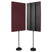 "3"" ProMAX 2' x 4' Panels - Burgundy (2 Stands)"