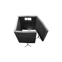 MAX-Wall 1141: 4-Wall Isolation Booth - Charcoal