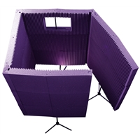 MAX-Wall 1141: 4-Wall Isolation Booth - Purple