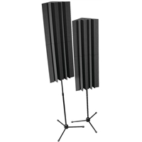 Mounted LENRD Bass traps x 4 (2 stands) - Charcoal