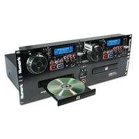 "CDN77USB: 19"" Rack Pro Dual CD/MP3/USB Player"